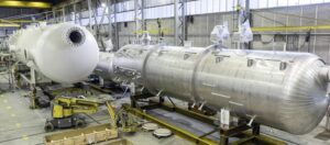 Pressure vessels being produced for the oil and gas industry in the North Sea.