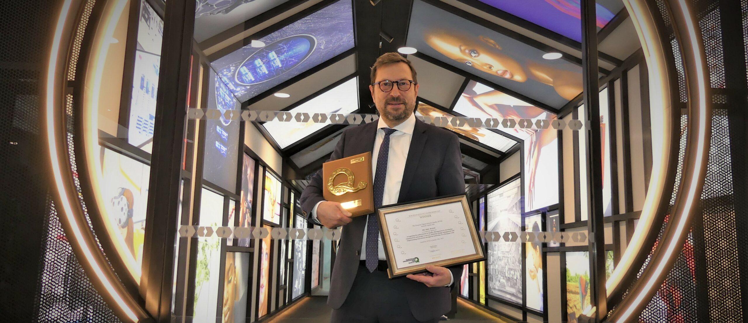 Winner of the 2019 EOQ European Quality Leader Award